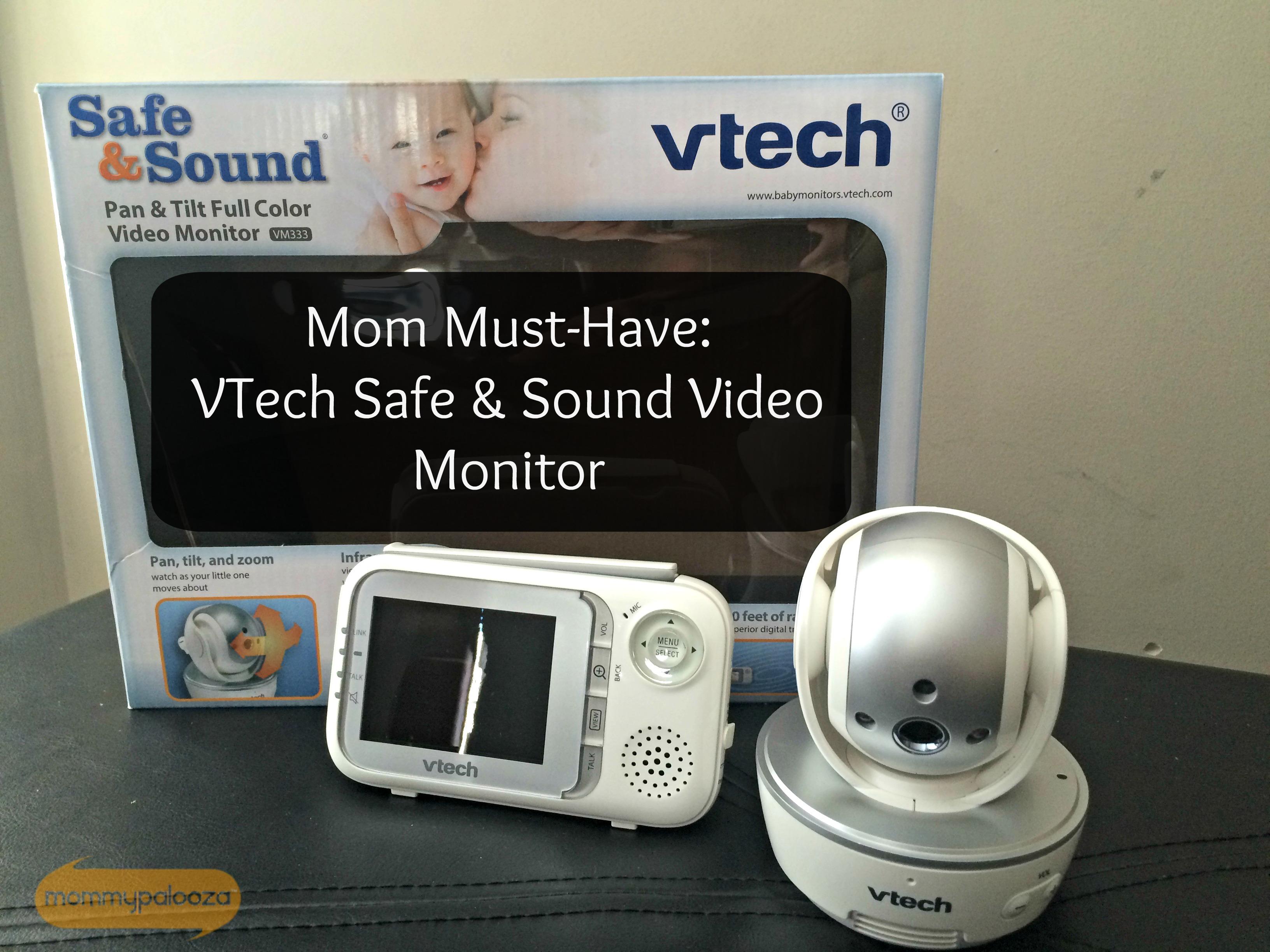 mom must have vtech safe and sound pan tilt full color video baby mon. Black Bedroom Furniture Sets. Home Design Ideas